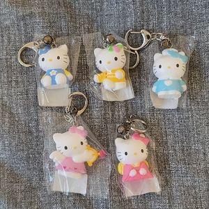 Lot of 5 ($10each)- Hello Kitty Keychains